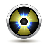 Metal glowing radiation icon — Stockvektor