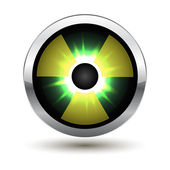 Metal glowing radiation icon — Stock Vector