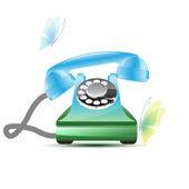 Glossy retro phone — Stock Vector
