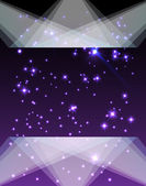 Purple starry background with illumination — Stock Vector