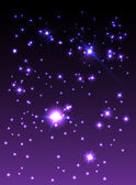 Purple starry sky — Stock Vector