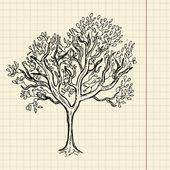 буш эскиз на бумаге школа — Cтоковый вектор