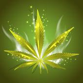 Magic ganja leaf for your design — Stock Vector