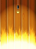 Burning room — Stock Vector
