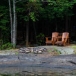 Muskoka Chairs — Stock Photo