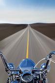 Moto vitesse sur la route — Photo