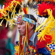 Native Dancer at Pow Wow — Stok fotoğraf