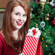 Stock Photo: Excited Unwrapping