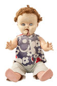 Old Broken Creepy Doll — Stock Photo