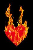 Hear of Fire — Stock Photo
