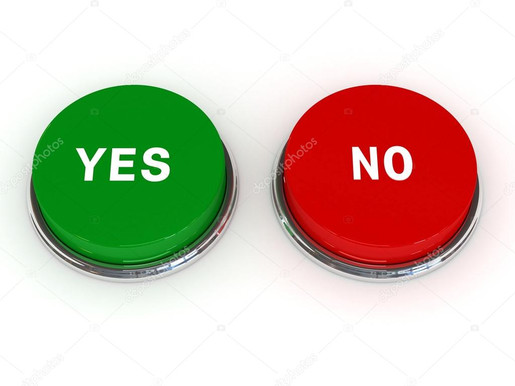 Yes No button isolated — Stock Photo © onilmilk #12868669