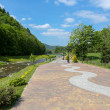 Promenade in Szczawnica — Stock Photo