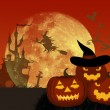 Royalty-Free Stock Imagen vectorial: Halloween night.