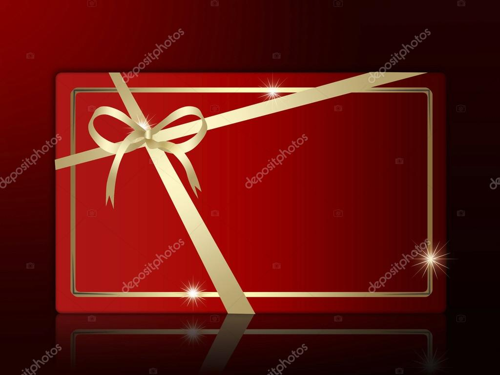 Christmas Red Gift Box Logo Icon. — Stock Vector #13862532