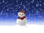 Snowman covered with snow. — Stock Vector