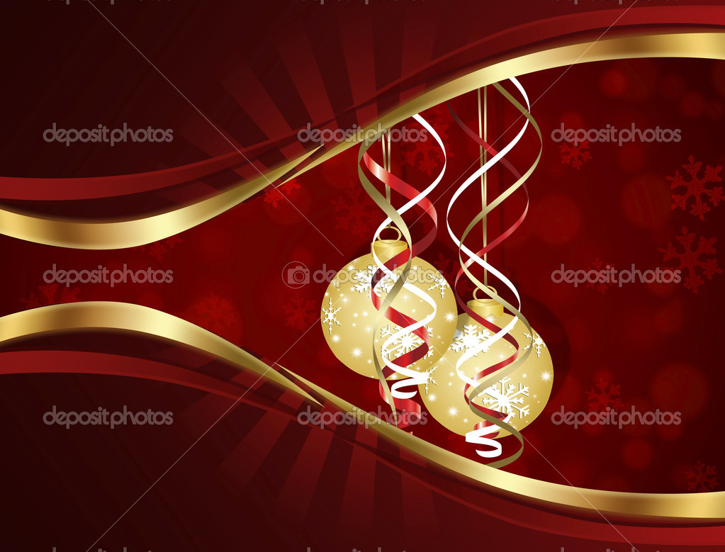 Christmas background in red.  Stock Vector #14447737