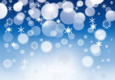 Snow blue christmas background . — Stock Vector