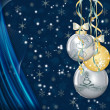 Christmas Baubles Background. — Stock Vector