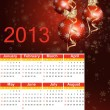 Christmas 2013 Calendar. — Stock Vector