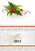 Christmas 2013 Calendar. — Stock Vector