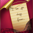 Royalty-Free Stock Photo: Love letter with medallion
