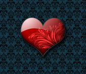 Stylized Valentines day heart — Stockfoto