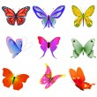 Various butterflies . — Stock Vector