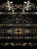 Vector set of golden ornate. — Stock Vector