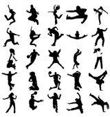 Vector silhouettes-sport. — Stock Vector
