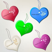 Tags in the form of hearts. — Stock Vector