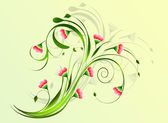 Floral background. — Stock Vector
