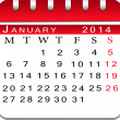 Blank calendar january 2014. — Stock Photo