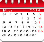 Blank calendar may 2014. — Stock Photo