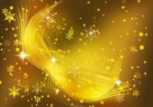 Yellow xmas sparkles. — Stock Photo