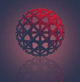 Snadné 3d globus. — Stock vektor
