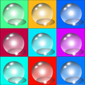 Set of colorful transparent bubbles. — Wektor stockowy