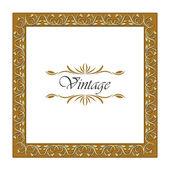 Frame Vintage Old Ornament. — Stock Vector
