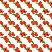 Seamless pattern of red poppies . — Stock Vector