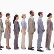 Profile of a business team in a single line — Stock Photo #13900809