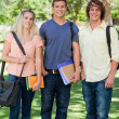 Three students posing side by side — Stock Photo #13906790