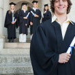 Close-up of a handsome graduate — Stock Photo