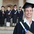 Close-up of a happy graduate — Stock Photo