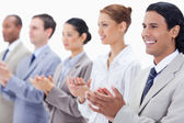 Close-up of a business team applauding — Stock Photo