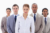 Close-up of a serious business team — Stock Photo