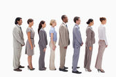 Profile of a business team in a single line — Stock Photo