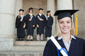 Close-up of a blonde graduate — Stock Photo