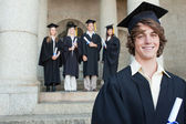 Close-up of a smiling graduate — Stock Photo