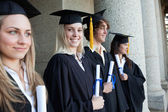 Blonde graduate — Stock Photo