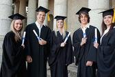 Absolventi dohromady — Stock fotografie