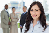 Businesswoman showing a great smile in front of the camera — Stock Photo